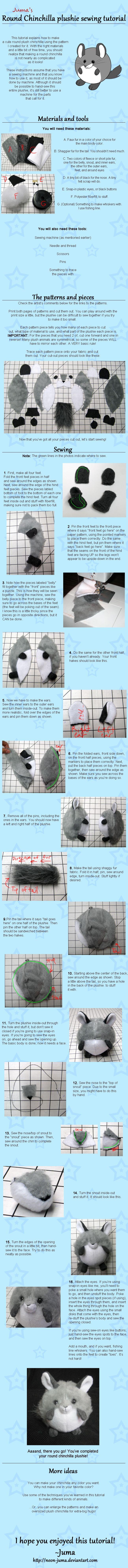 Round Chinchilla plushie tutorial by Neon-Juma on DeviantArt | Dolls ...