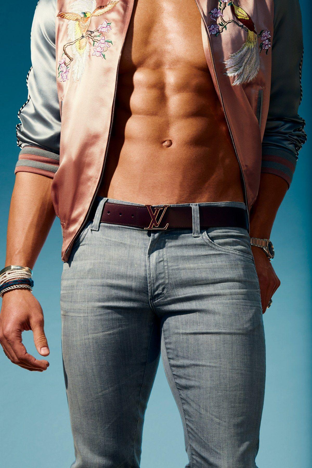 Belt, $635, by Louis Vuitton Jacket, Louis Vuitton Jeans ...