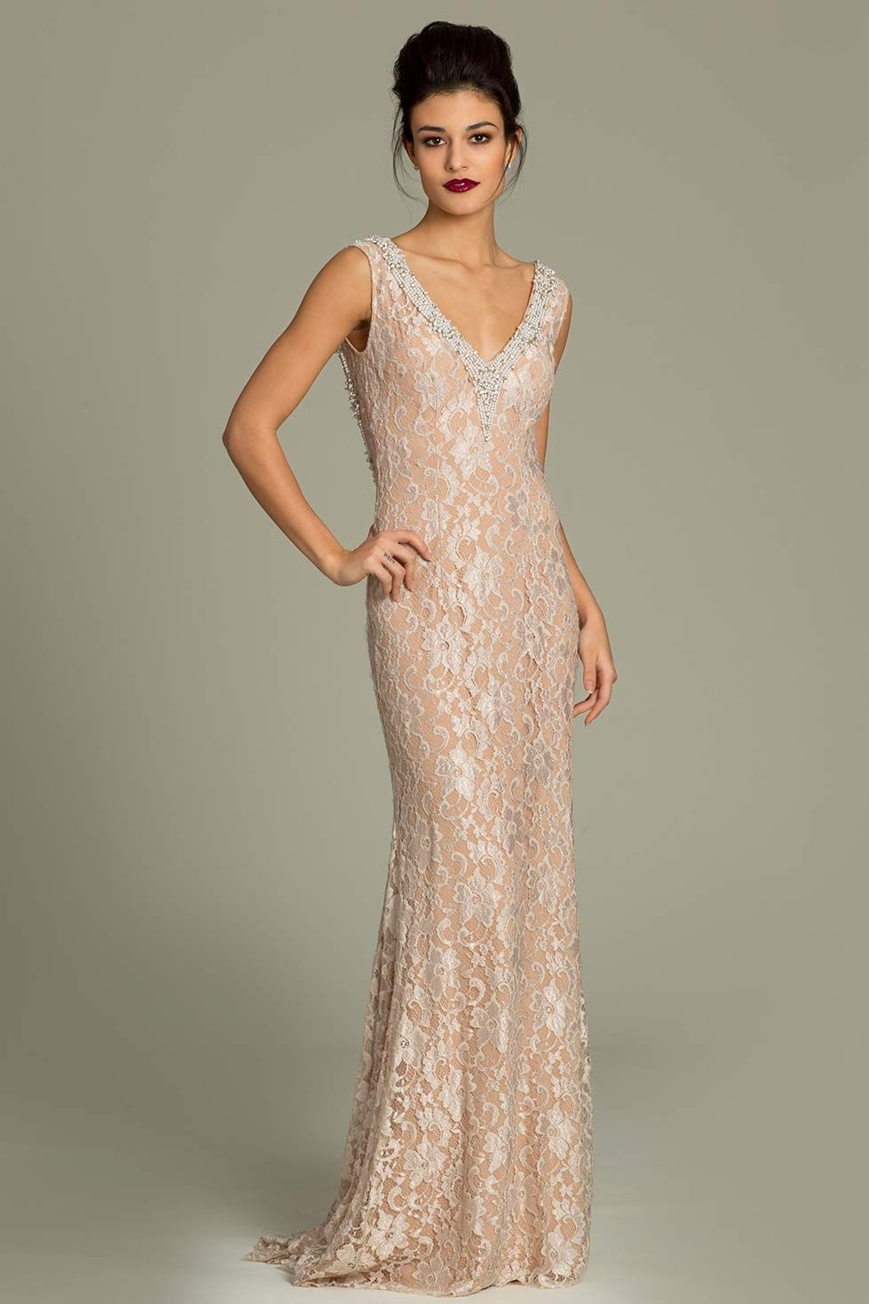 Open back jovani lace gown nuttiness pinterest jovani dresses