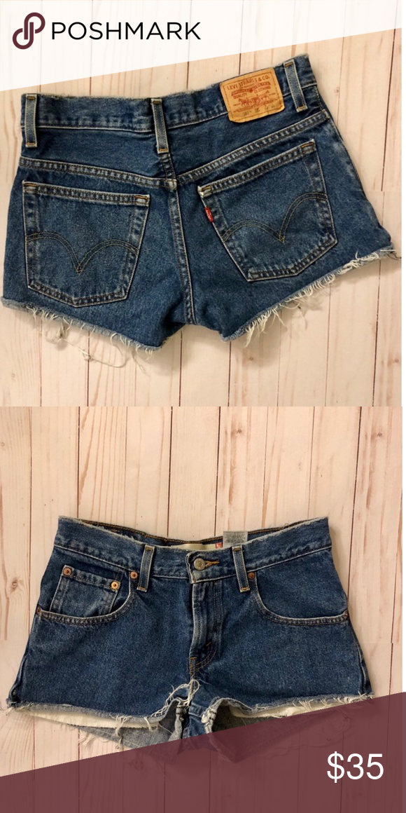 29a3a4dd Levi's 550 relaxed fit cutoff denim shorts Tag says 10 HUSKY 30 x 26 These  are short Levi's Shorts Jean Shorts