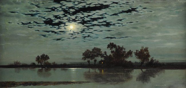 Gerald Coulson - Moonlight on the Fens