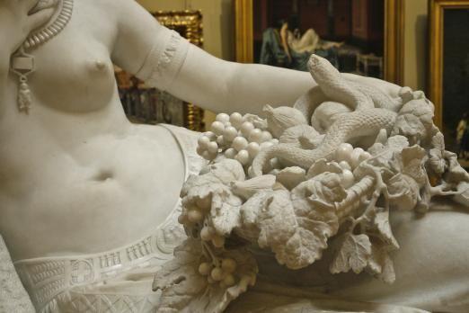 Statue of Cleopatra (closeup) by Alfonso Balzico,...