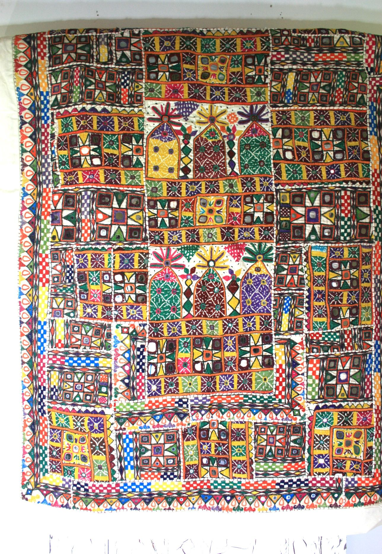 Indian Wall Hang Wall Hanging Fabric Patterns Design Contemporary Art Quilt