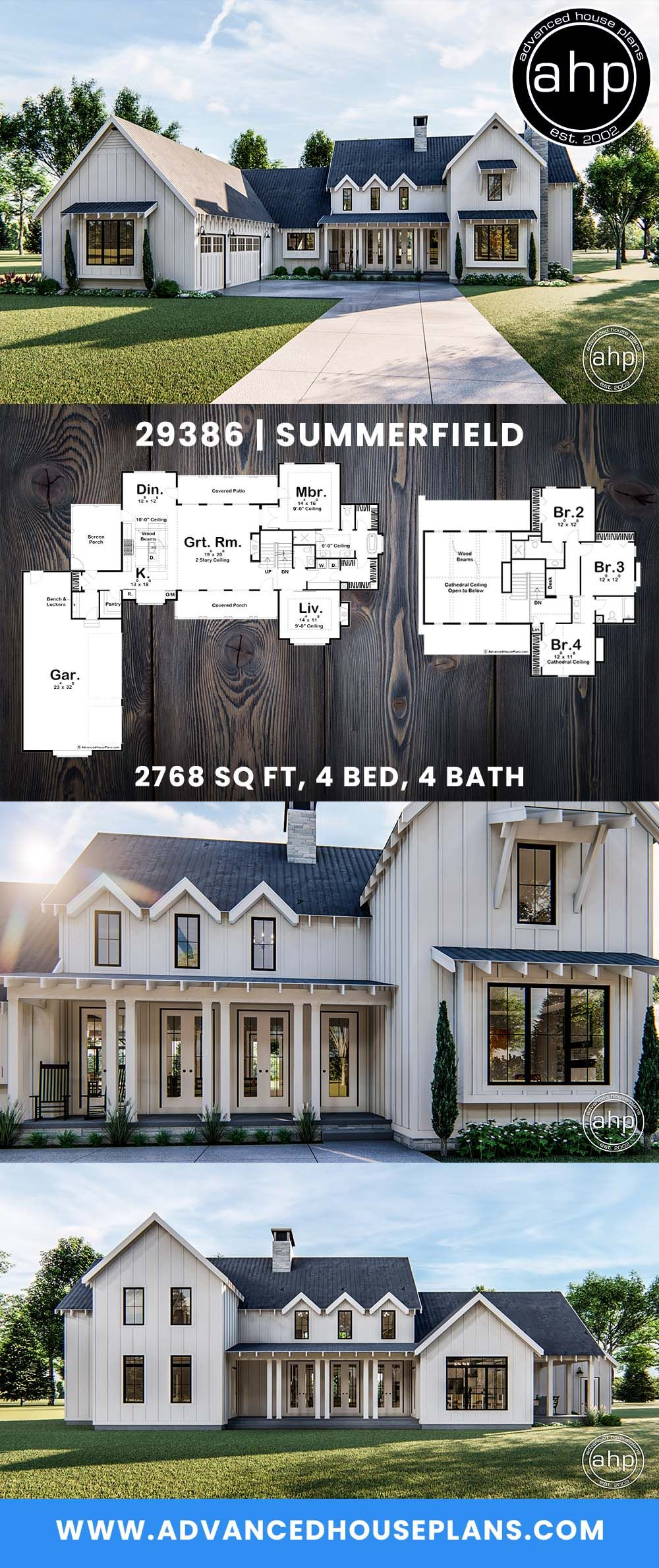 4 bedroom Modern Farmhouse with cathedral ceilings