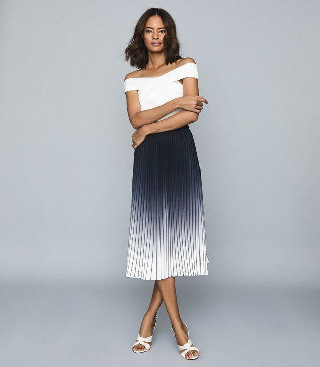 Ruffle Tulle Tiered Dip Hem Maxi Skirt in Brown | Short