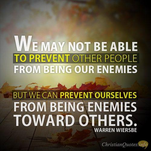 Bible Quotes Enemies: 5 Ways To Befriend Our Enemies: Warren