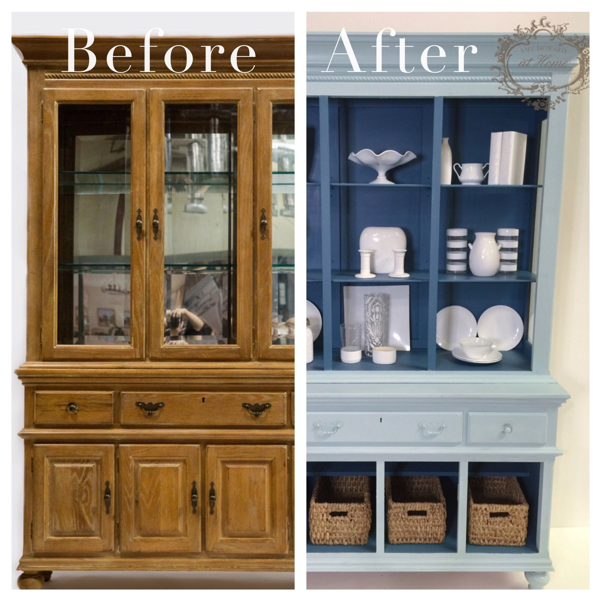 Check Out This Gorgeous China Cabinet Upcycled By Amy Live