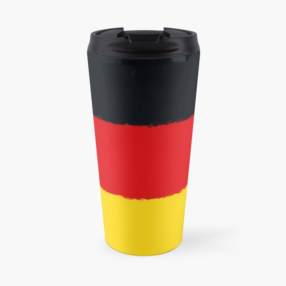 German flag banner in watercolor travel mug in 2020