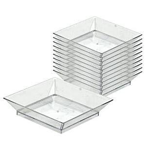 Clear Plastic Square Plates - 9cm  sc 1 st  Pinterest & Clear Plastic Square Plates - 9cm | Viks Baby shower | Pinterest ...