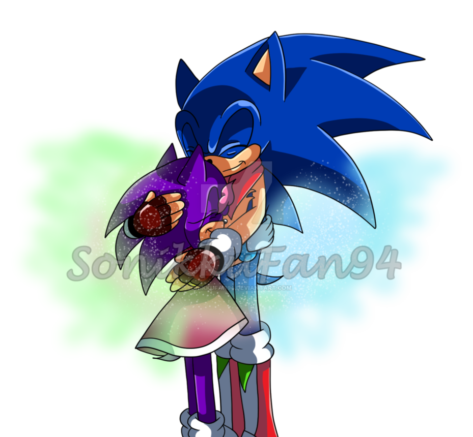 Sonic Hugging His Daughter Amethyst Is Only About Eleven Here Amethyst S Soul Is Made Up Of Chaos Energy And Can Be A Little Sonic Sonic And Amy Sonic Costume