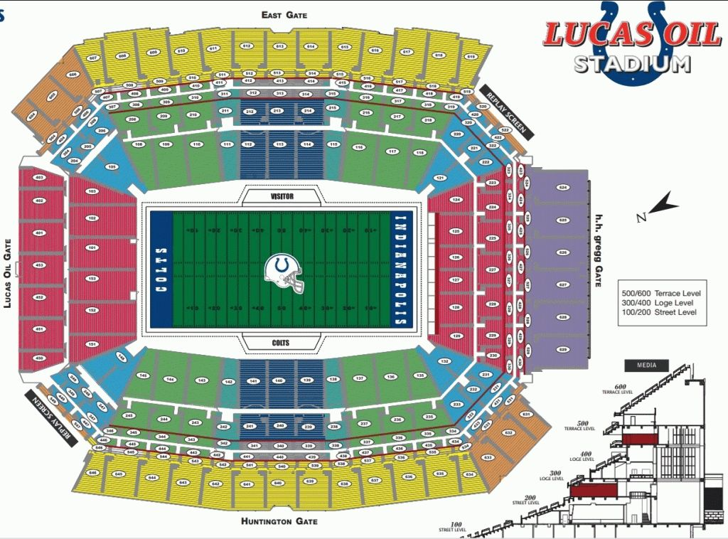 Colts Seating Chart Lucas Oil Stadium Football Stadiums Seating Charts