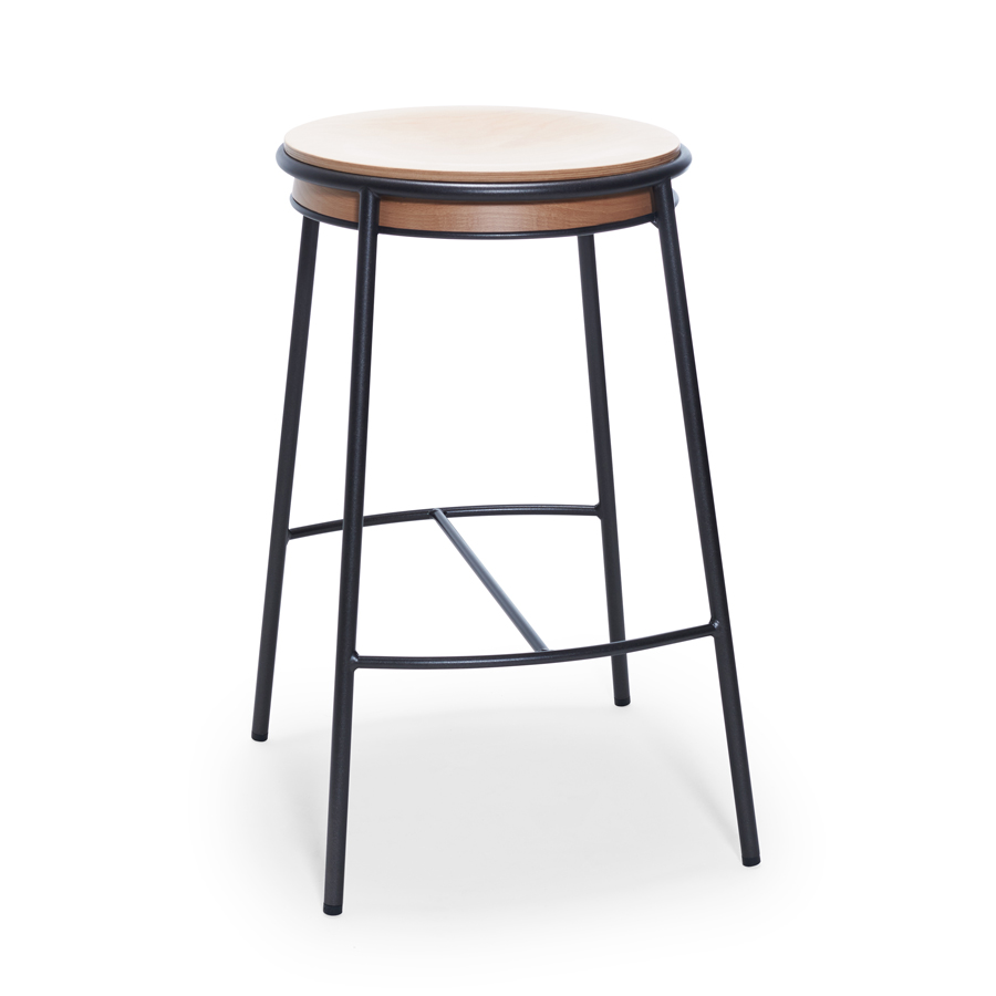 Eman Sg Stool With Metal Frame With Footrest And Upholstered Seat Also Available With Wooden Seat Code E Sg In 2020 Bar Stools Stool Folding Bar Stools
