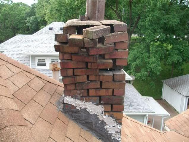 Broken Chimney Roof Leak Repair Leak Repair Leaking Roof