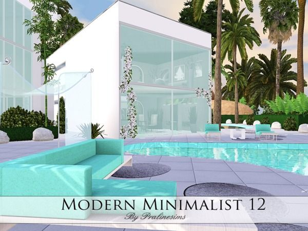 Modern Minimalist 12 House By Pralinesims Sims 3 Downloads Cc