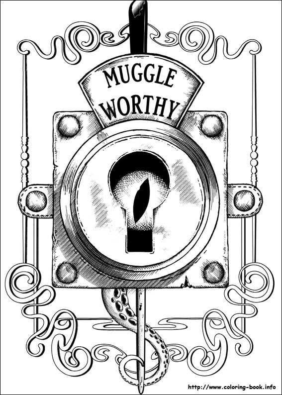 Fantastic Beasts And Where To Find Them Coloring Picture Harry Potter Coloring Pages Harry Potter Coloring Book Coloring Pages