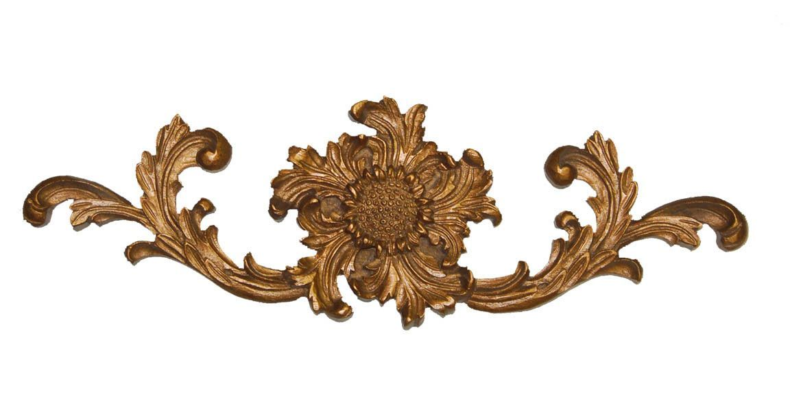 French Sunflower Cartouche Wall Décor