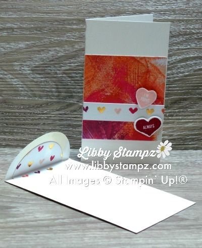Love Narrow Note Card. Thick Whisper White Narrow Note Cards with Painted With Love Specialty DSP; Sure Do Love You Bundle; Layering Circle Framelit Dies