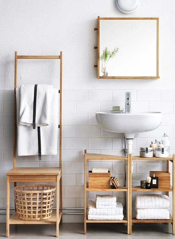ikea bathroom furniture light wood pine wood laundry basket