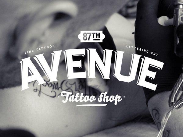 87th Avenue Tattoo shop by Fabien Laborie, via Behance