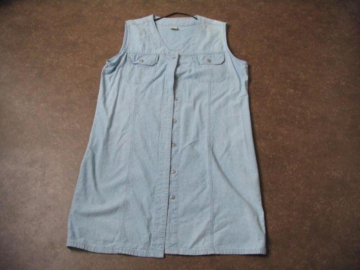 Licht Blauwe Jurk : Licht blauwe spijker jurk met knopen maat 42 prijs: bieden