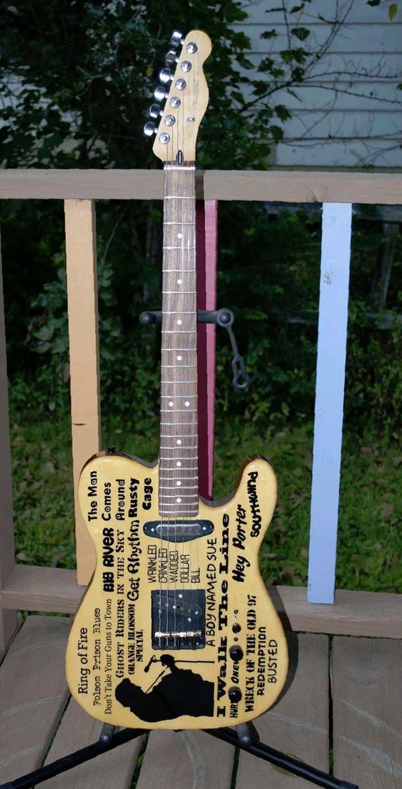 Johnny Cash Telecaster Guitarras Pinterest Guitar Fender On Steampunk And Epiphone Beautiful Guitars
