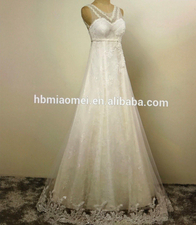 Aline wedding dress portrait back with back corset elegant lace