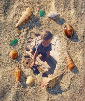 Drew at the beach