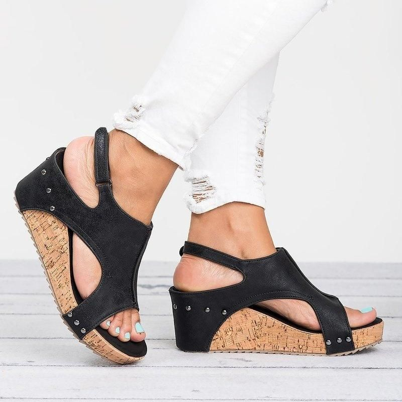 e67cc82d6ea Shoes - Vintage Style Woman Ankle Strap Platform Wedges High Heels – Kaaum