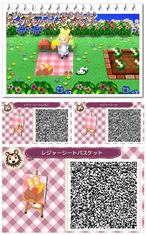 Picnic Blanket Animal Crossing 3ds Animal Crossing Animal Crossing Qr