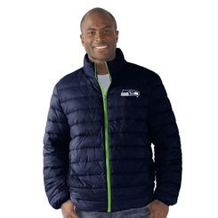 Men's G-III Sports by Carl Banks College Navy Seattle Seahawks Packable Polyfill Full-Zip Jacket