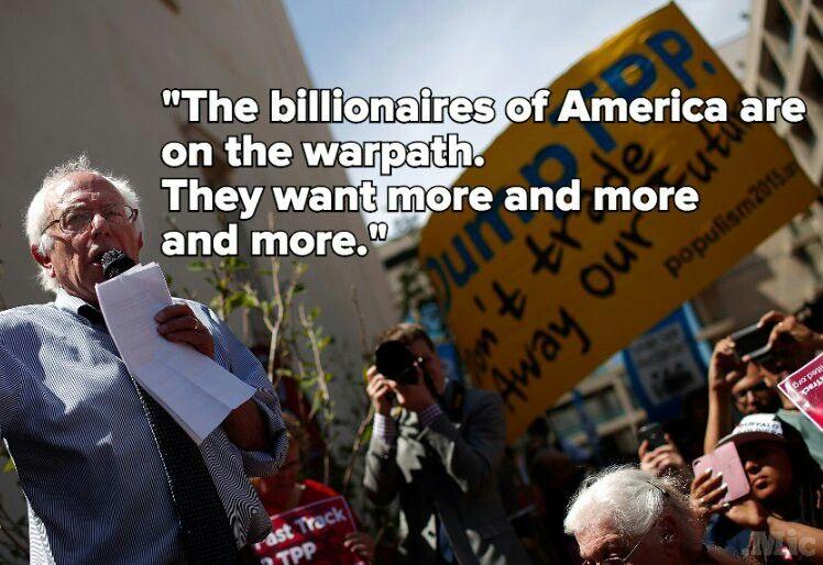 Bernie Sanders #Bernie2016 #Sanders2016 #FeelTheBern #billionaires #class #1% #oligarchy