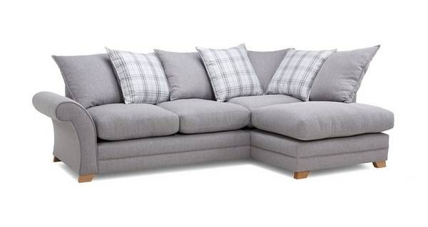 Monty Left Hand Facing Pillow Back Corner Sofa Arran Dfs Dfs Corner Sofa Corner Sofa Corner Sofa Bed