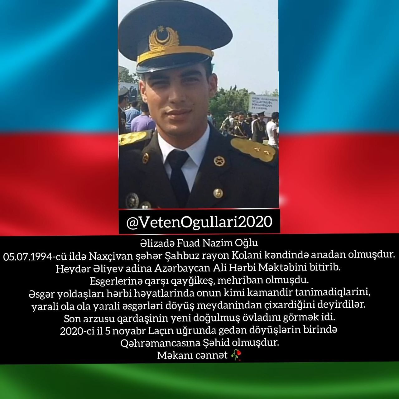 Səhid əlizadə Fuad Naxcivan Nur Icində Yat Nur Uzlu Səhidim Burns Azerbaijan
