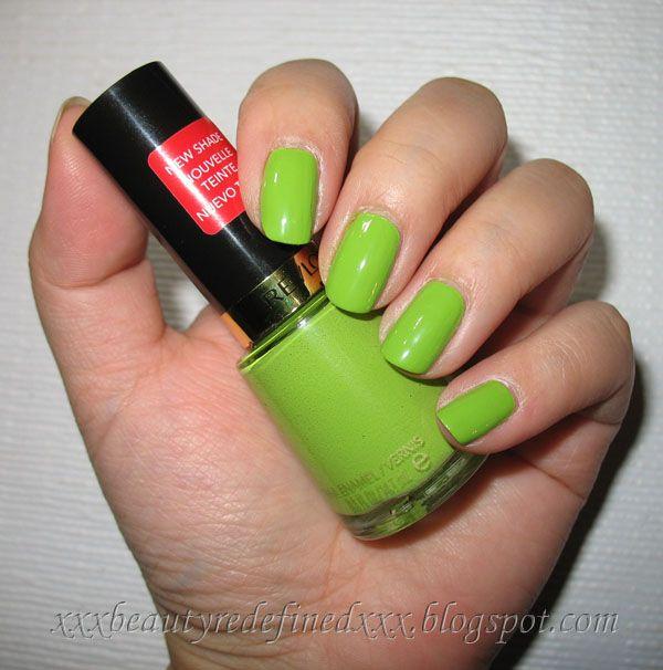 Revlon Sassy Nail Polish Swatch | GREEN | Pinterest