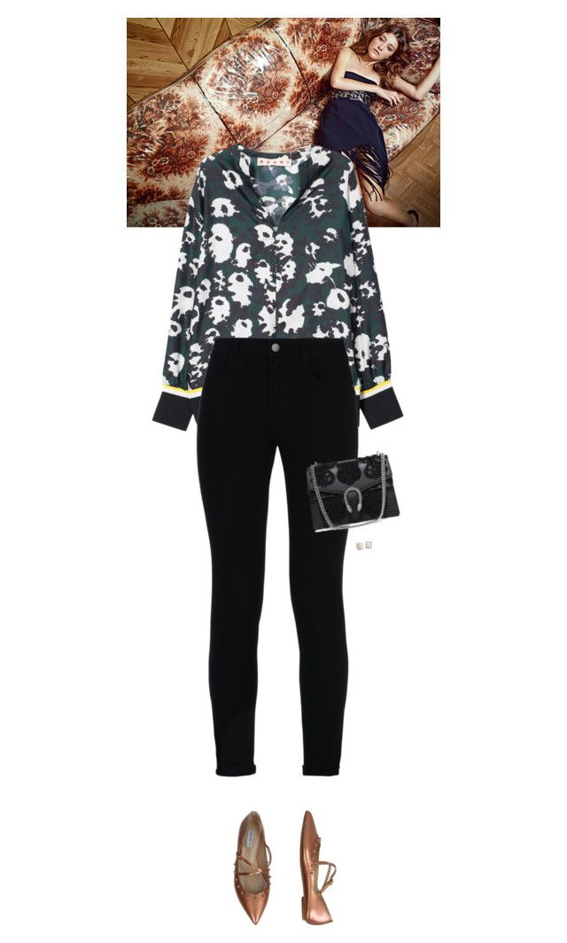 """""""Outfit of the Day"""" by wizmurphy ❤ liked on Polyvore featuring Marni, STELLA McCARTNEY, Fratelli Rossetti, Gucci, Blue Nile, ootd and marni"""