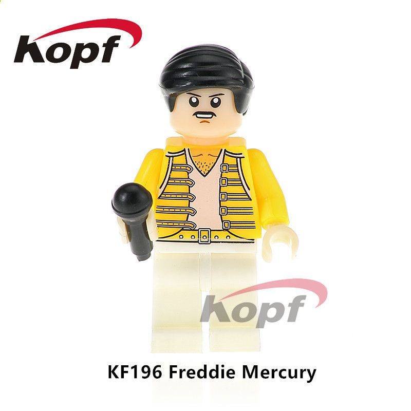 Freddie Mercury Brick Kopf Bloc de construction Figurine
