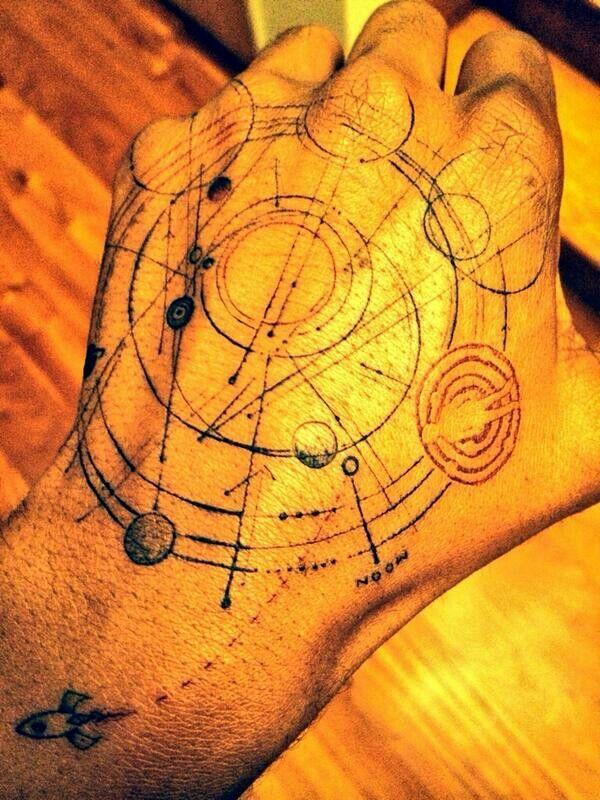 """The Moon Man Solar Map, so I can always find my way home... Dr Woo X Cudder"" - Kid Cudi"