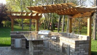 Pergola Over Outdoor Kitchen Char Broil Grill Covers