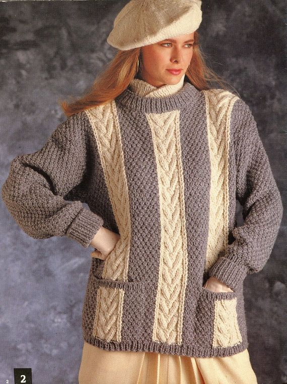 Knitting Pattern Book Sweaters for Teens Men and by KenyonBooks ...