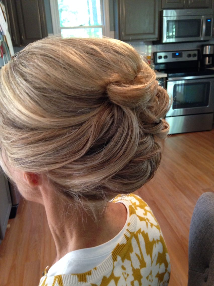 mother of the bride updo | updos, formal hair, wedding