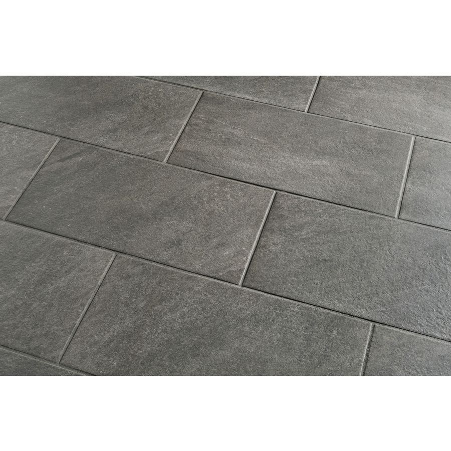 Style Selections Galvano Charcoal Porcelain Granite Floor And Wall Tile 4 49 Per 2 Sf Outdoor Flooring Tile Floor Granite Flooring