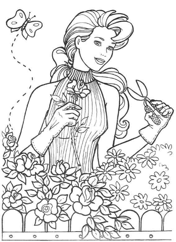 Desenho Para Colorir da Barbie (Desenho 23) | Desenhos Para Colorir ...