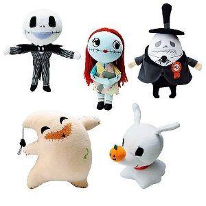 Nightmare before Christmas plush character toys | Robins Birthday ...