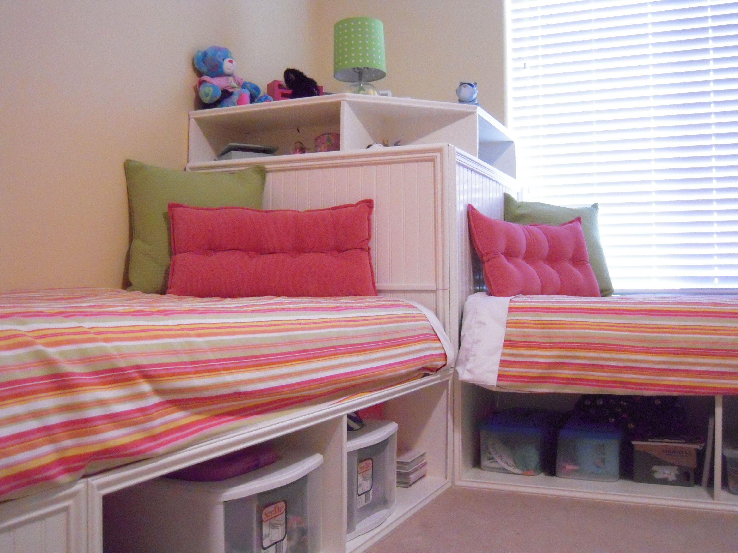 Twin bed with storage and headboard - Twin Storage Beds And Modified Corner Unit Secret Storage