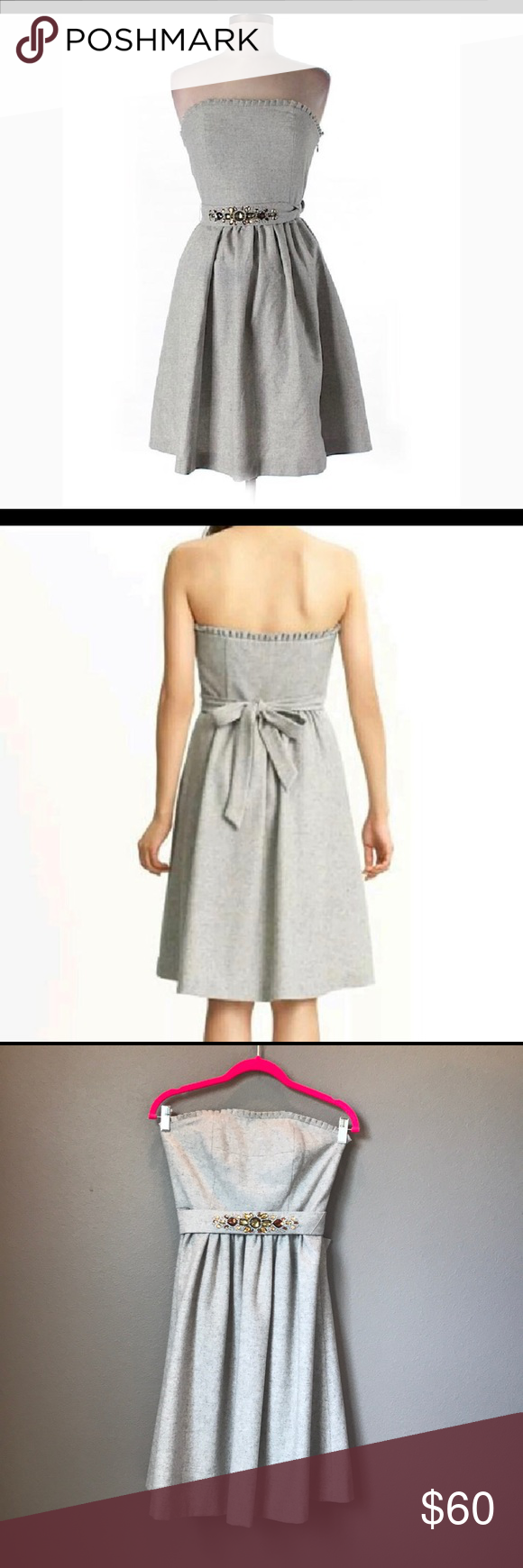 e90f1c198838d Banana Republic Strapless Wool Dress LIKE NEW! Banana Republic Strapless  Wool Dress with Jeweled Belt - Size 2 - This dress is BEAUTIFUL!