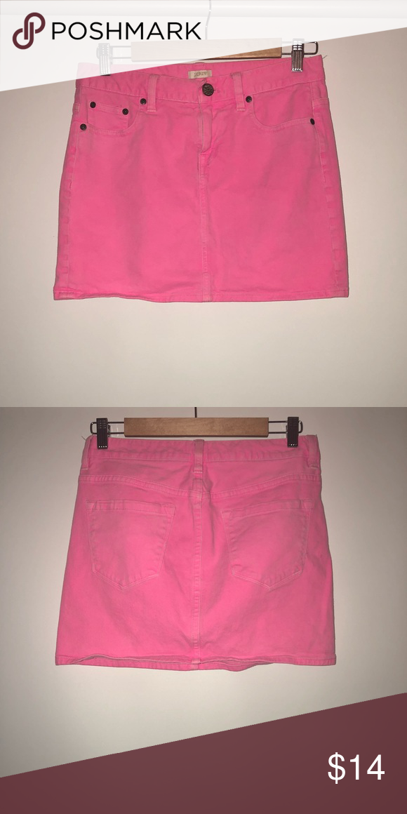 5f4cd53be79b J. Crew Hot Pink Denim Skirt Great condition! Perfect summer skirt! J. Crew  Skirts Mini