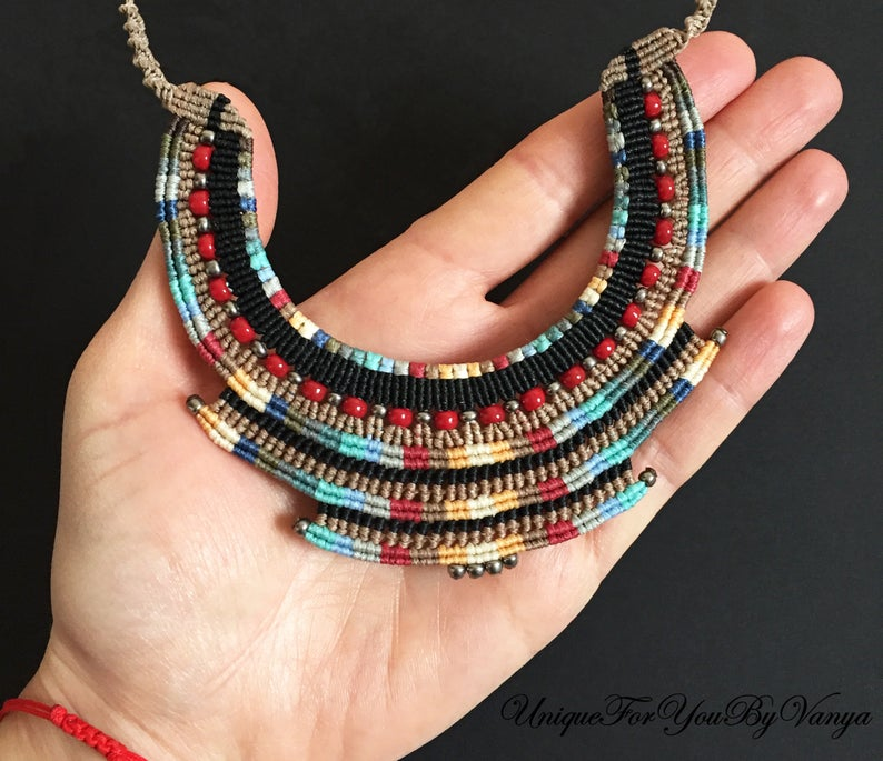 Micro Macrame Tutorial, Macrame necklace pattern, Macrame Jewelry Making, DIY Choker, PDF Pattern, PDF Necklace, Native american necklace