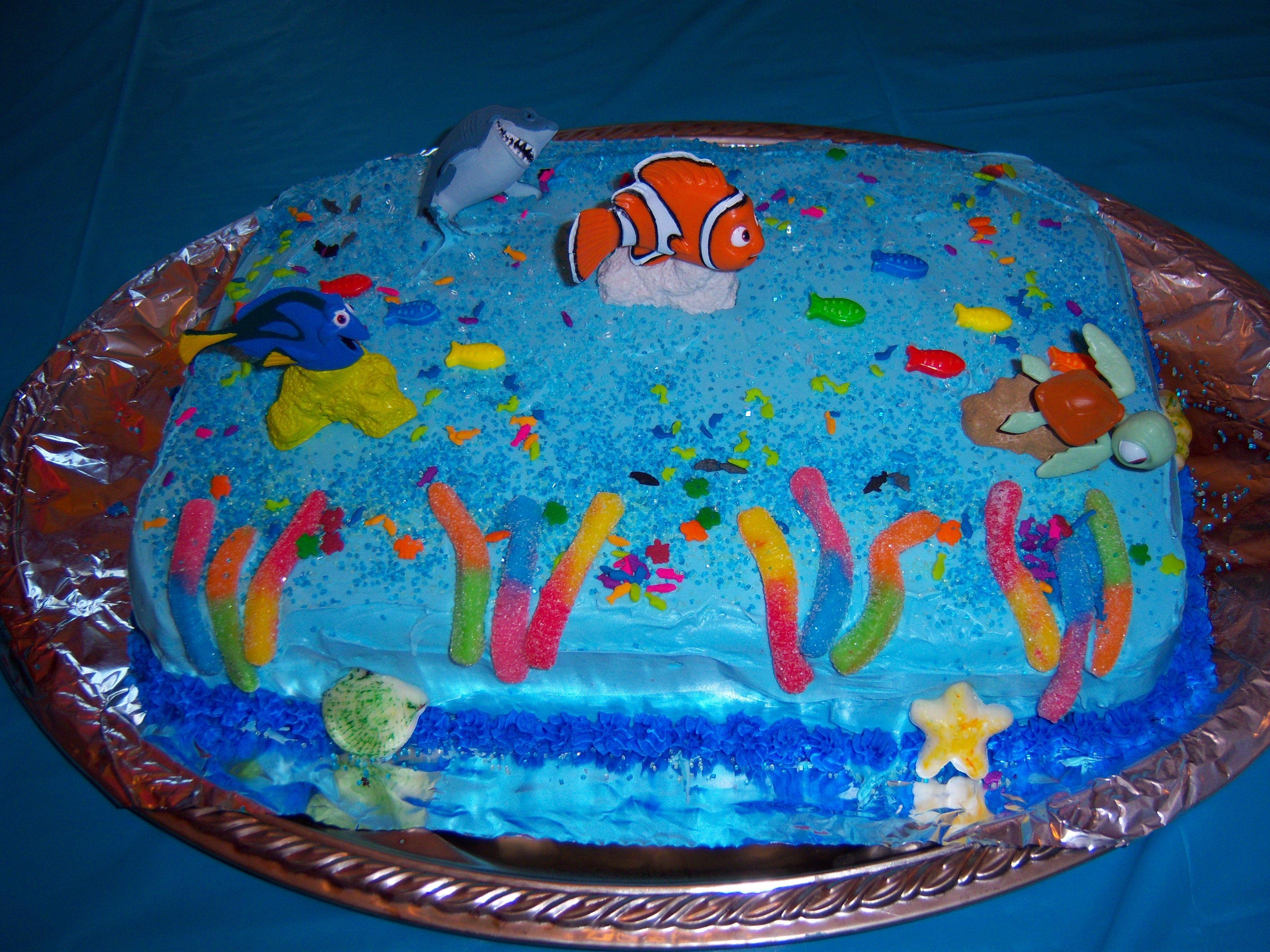 Finding nemo cake finding nemo cake nemo cake cupcake