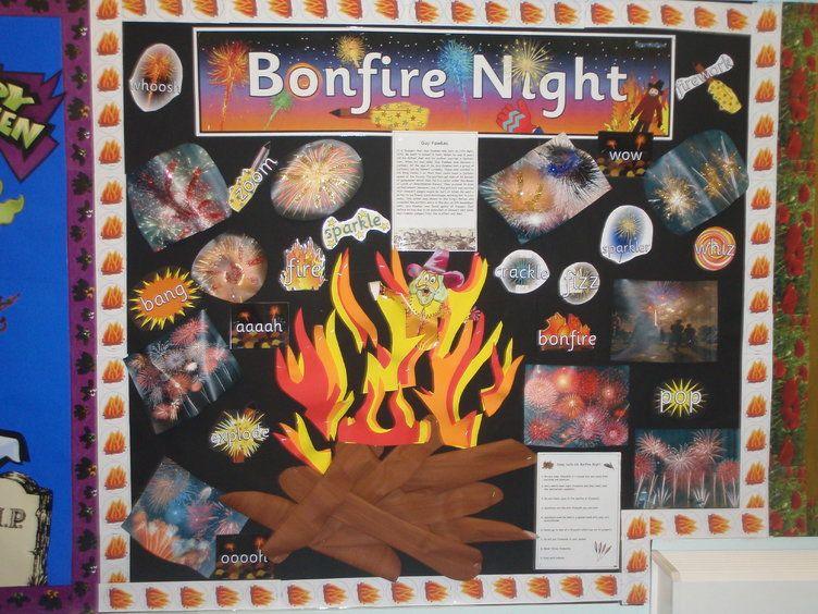 Bonfire Night Fire Display, classroom display, class display ...