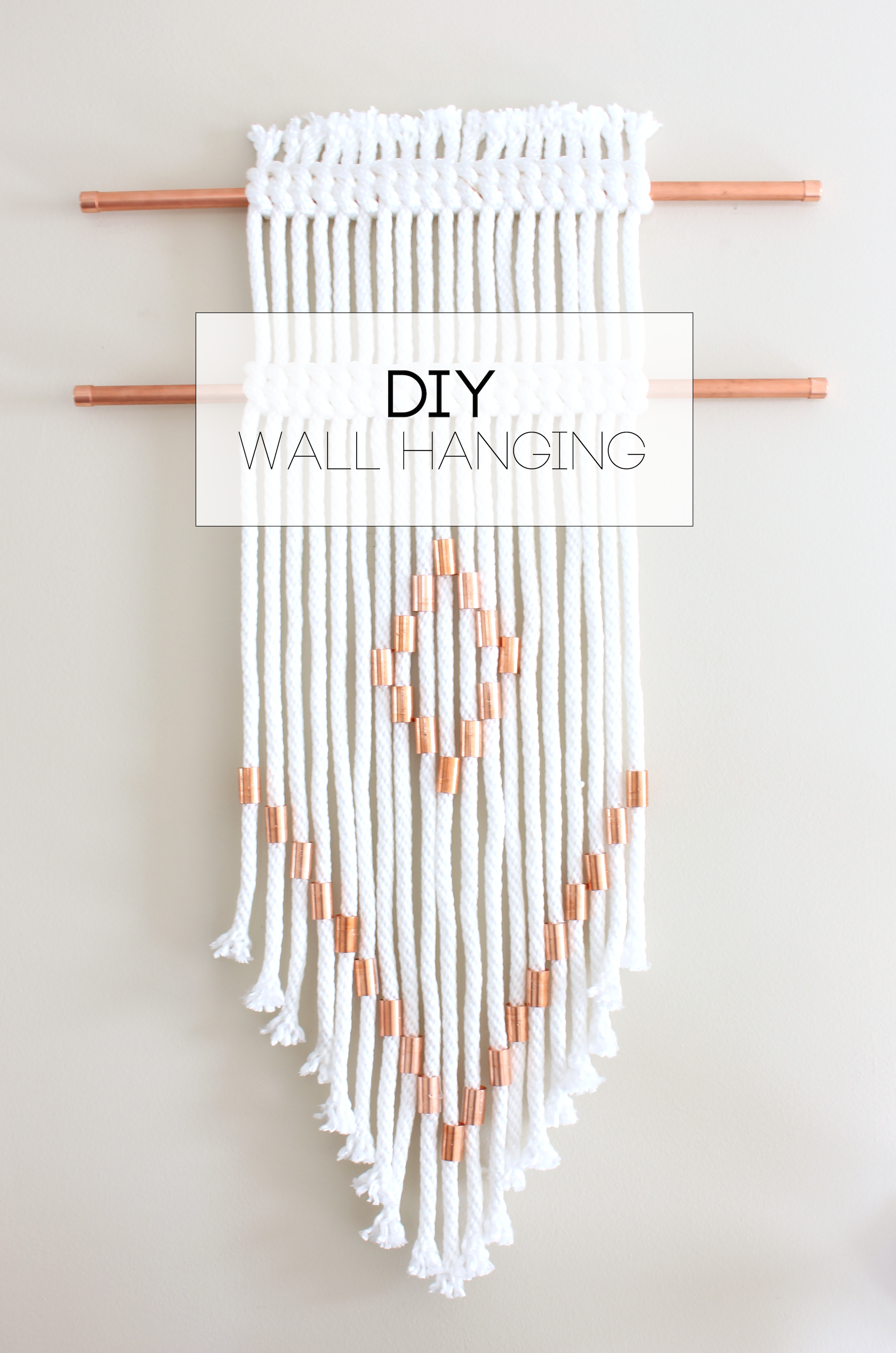 I Ve Created A Few Of These Wall Hangings Although With Wooden Beads Instead Of Copper Here To Say I M Obs Wall Hanging Diy Yarn Wall Art Yarn Wall Hanging